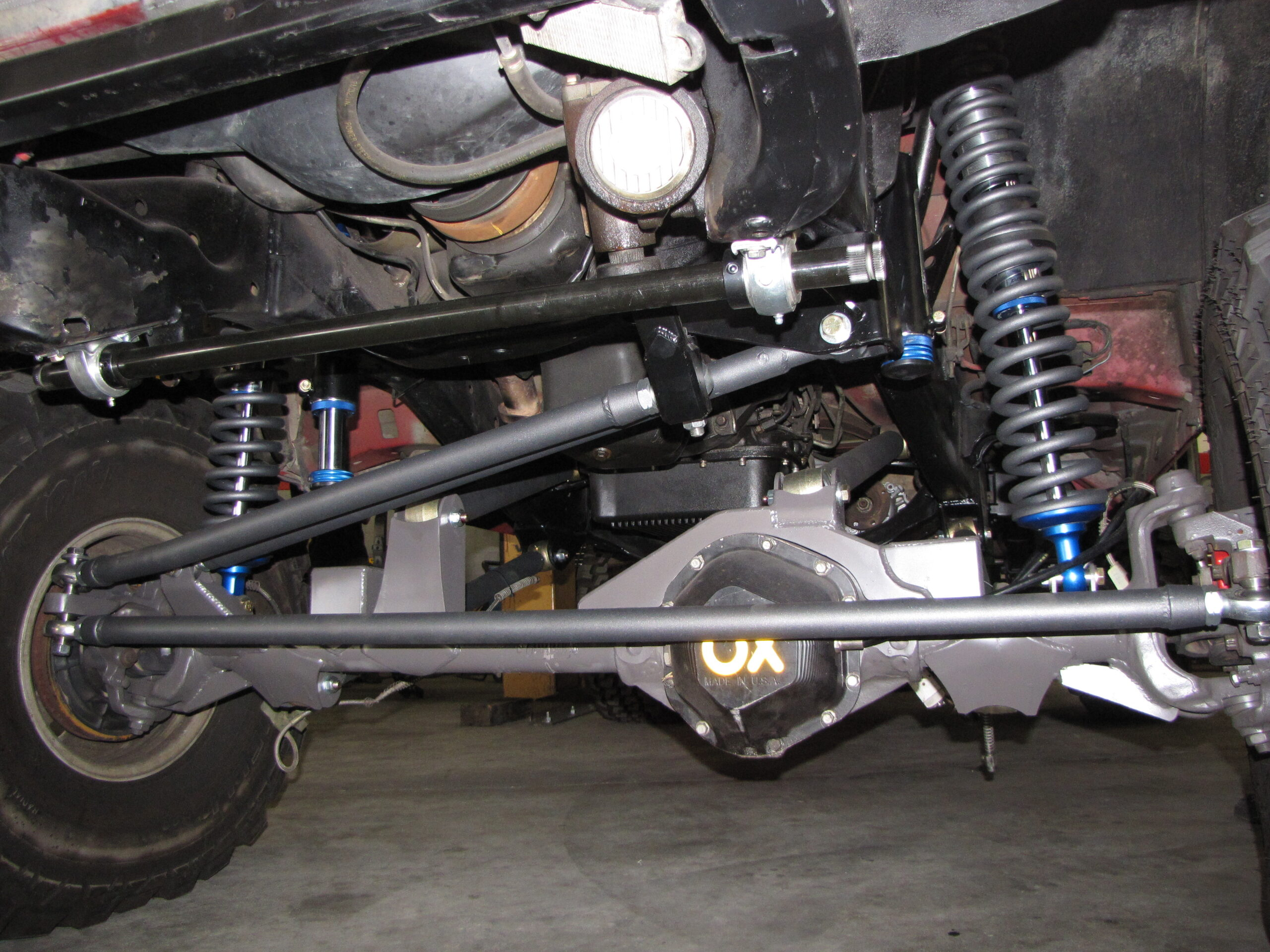 front steering track bar on a truck