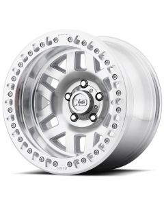 "XD Series XD229 Machete Crawl Beadlock Wheel | Machined Finish 17"" x 9"" 8x6.5 Bolt Pattern"