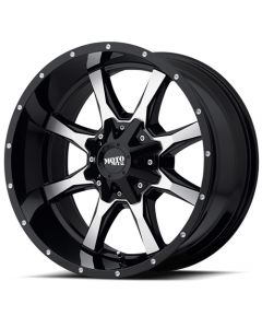 "Moto Metal MO970 Gloss Black w/ Machined Face Wheel 18"" x 10"" 8x6.5 Bolt Pattern"