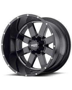 "Moto Metal MO962 Gloss Black w/ Milled Accents Wheel 20"" x 9"" 8x6.5 Bolt Pattern"