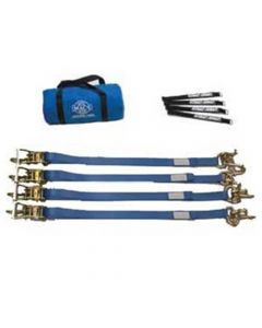 "Mac's Tow Package Deal 2"" x 8' Tie Down Kit with Transit Cluster and Direct Hook Ratchet Straps"