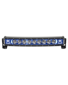 Rigid Industries 20 Inch LED Light Bar Single Row Curved Blue Backlight Radiance Plus