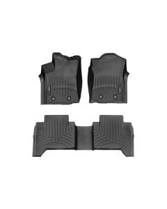 WeatherTech FloorLiner - 1st and 2nd Row - Black - 2016-2020 Toyota Tacoma - Automatic 4-Door