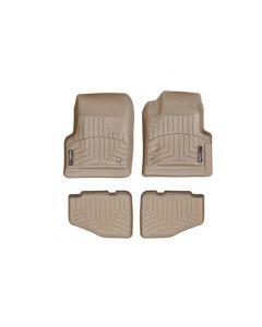 WeatherTech FloorLiner - 1st and 2nd Row - Tan - 1997-2006 Jeep Wrangler TJ 2-Door