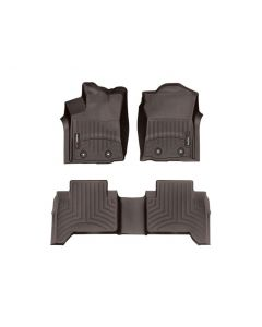 WeatherTech FloorLiner - 1st and 2nd Row - Cocoa - 2016-2020 Toyota Tacoma - Automatic 4-Door