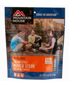 Mountain House - Italian Style Pepper Steak with Rice and Tomatoes Pouch