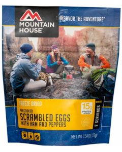 Mountain House - Scrambled Eggs with Ham, Red and Green Peppers Pouch