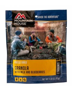 Mountain House - Granola with Milk and Blueberries Pouch