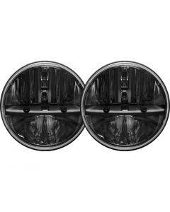 Rigid Industries 7 Inch Round Headlight With PWM Adaptor Pair