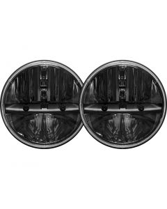 Rigid Industries 7 Inch Round Headlight With H13 To H4 Adaptor Pair