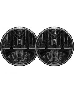 Rigid Industries 7 Inch Round Heated Headlight With H13 To H4 Adaptor Pair