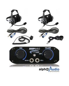 Rugged Radios RRP660 2 Place Intercom System With Behind The Head Ultimate Headsets