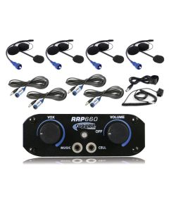 Rugged Radios RRP660 4 Place Intercom System With Helmet Kits