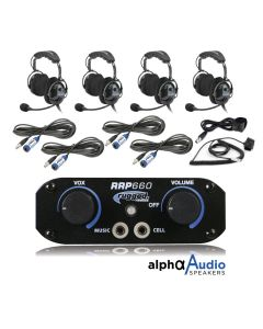 Rugged Radios RRP660 4 Place Intercom System With Over The Head Ultimate Headsets