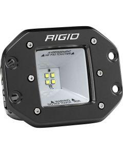 Rigid Industries 2x2 115 Degree DC Power Scene Light Black Housing Flush Mount
