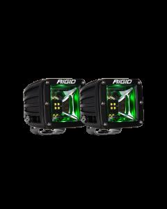 Rigid Industries Scene Green Backlight Surface Mount Pair Radiance