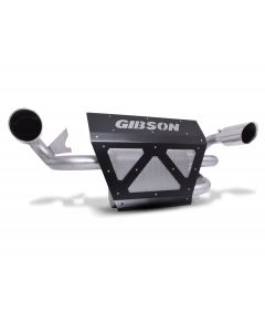 Gibson Performance Exhaust - 2019 Polaris RZR XP Turbo / 2018-2019 Turbo S - Slip On Muffler, Dual Exhaust, Stainless