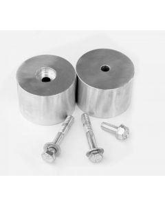 JKS Manufacturing 2in Aluminum Bump Stop Extension Kit