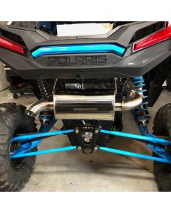 Treal Performance Slip-On Exhaust System - 2016-2019 Polaris RZR XP Turbo - Turbo S
