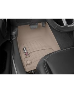 WeatherTech FloorLiner - 1st Row - Tan - 2018-2020 Jeep Wrangler JL JLU