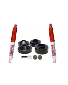 Skyjacker 2in. Front 3/4in. Rear Polyurethane Spacer Leveling Kit with Hydro 7000 Shocks - 07-18 Jeep JK