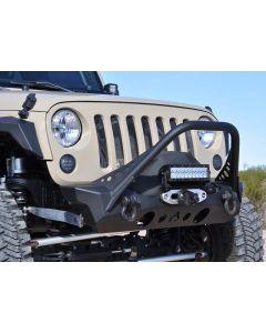 Artec Industries JK NightHawk Front Bumper W/Mid Tube Stinger - Jeep Wrangler JK 2007-2017