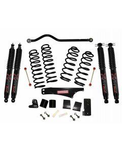 Skyjacker 3.5in. Softride Coil Spring Lift Kit with Black MAX Shocks - 07-18 Jeep JK