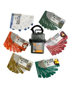 Ultimate Survival Technologies Learn and Live Cards - Outdoor Skills Set