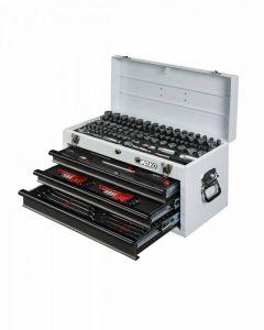 BOXO USA 185 Piece Metric and SAE Tool Set with 3 Drawer Box