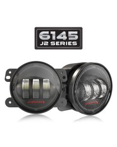 J.W. Speaker - Carbon Fiber LED Fog Lights - Model 6145 J2 Series - 2007-2020 Jeep Wrangler JK JKU JL JLU