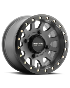 Method Race Wheels MR401 UTV Beadlock - 14in Wheel - Titanium With Matte Black Ring