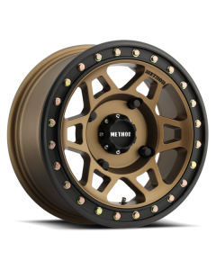 Method Race Wheels MR405 UTV Beadlock - 14in Wheel - Method Bronze With Matte Black Ring
