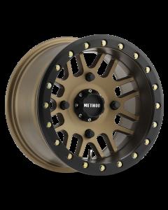 Method Race Wheels MR406 UTV Beadlock - 14in Wheel - Method Bronze With Matte Black Ring