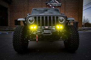 Jeep Gladiator Build Aftermarket Headlights Baja Designs LP 6